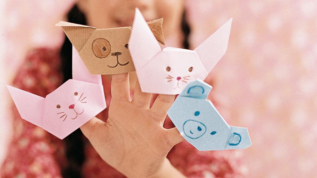 Картинки дети делают оригами